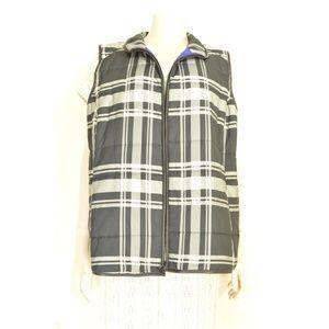 Ralph Lauren Jackets & Coats - Ralph Lauren vest 2X black white gray check puffer